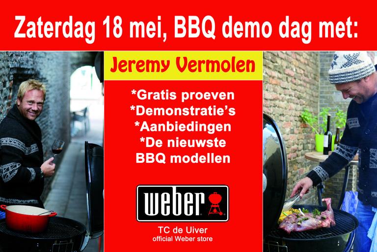 Weber bbq demo met tv kok jeremy vermolen activiteiten for Tuinprogramma op tv